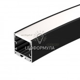 Профиль SL-ARC-3535-D1500-A45 BLACK (590мм, дуга 1 из 8) (ARL, Алюминий)