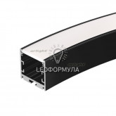 Профиль SL-ARC-3535-D800-A90 BLACK (630мм, дуга 1 из 4) (ARL, Алюминий)