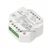 Контроллер-выключатель SMART-TUYA-SWITCH-PUSH-IN (230V, 1.5A, WiFi, 2.4G) (ARL, IP20 Пластик, 5 лет)