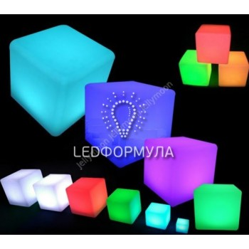 Светящийся LED Куб Jellymoon Cube 60 см RGB, на аккумуляторе